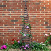 Smart Garden Faux Rattan Obelisk - Chestnut 1.5m (4071001)