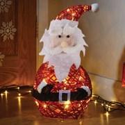Three Kings Sparkly Rattan Santa (2535013)