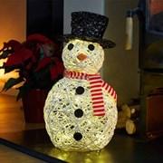 Three Kings Sparkly Rattan Snowman (2535014)