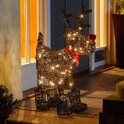 Three Kings Sparkly Rattan Rudolph 65cm (2535015)