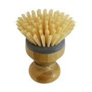 Jvl Bamboo Round Dish Brush (20-302)