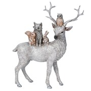 Gisela Graham Resin Standing Stag With Animals (20492)