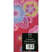 Paisley Tissue Paper 6sheet (20568-pink)