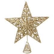 Gisela Graham Gold Glitter Star Tree Topper (20589)