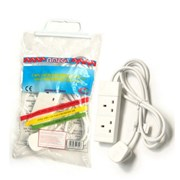Omega 2 Gang White Extension Lead 5m (21625)