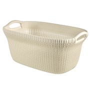 Curver Knit Laundry Basket Oasis White 40ltr (228393)