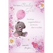 Simon Elvin Baby Girl Cards (22847)
