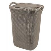 Curver Knit Laundry Hamper Harvest Brown 57ltr (229823)