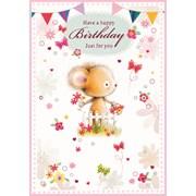 Simon Elvin Cute Female  Birthday Cards (23540)
