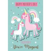 Mothers Day Card Unicorn Poppet (24375-C)
