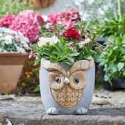 Smart Solar Woodstone Owl Planter (5071012)