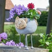 Smart Solar Woodstone Cat Planter (5071014)