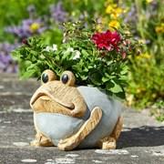 Smart Solar Woodstone Frog Planter (5071017)