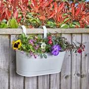 "Smart Garden Fence And Balacony Hanging Pot -ivory 12"" (6030290)"