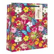 Tropical Floral Gift Bag Large (26553-2)