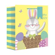 Easter Bunny Wide Gift Bag Large (26682-2W)