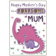 Roarsome Mum Poppet Card (26733-C)