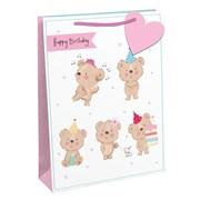 Happy Birthday Bear Gift Bag Medium (26880-3)