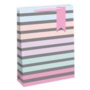 Pastel Stripes Gift Bag Medium (27183-3)