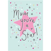Mothers Day Card Your A Star (28548-CC)