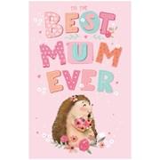 Mothers Day Cute Hedgehog Jumbo Card (28563-C)