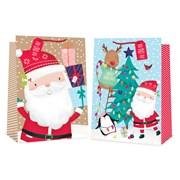 Santa/cute Tree Gift Bag S/jumbo (2859)
