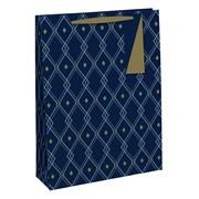 Geometric Male Gift Bag Large (28590-2C)