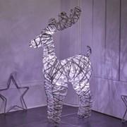 Three Kings Sparkly Rattan Reindeer (2532004)