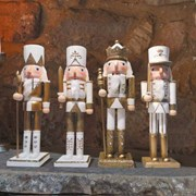Three Kings Nutcracker Gold/white 30cm (2538007)