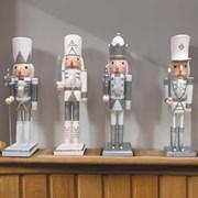 Three Kings Nutcracker Silver/white 30cm (2538012)