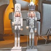 Three Kings Nutcracker Silver/white 70cm (2538014)
