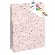 Pink Spot/ Unicorn Tag Gift Bag Medium (28791-3C)