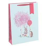 Bunny On  A Swing Gift Bag Large (28893-2C)