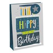 Male Happy Birthday Gift Bag Large (28923-2C)