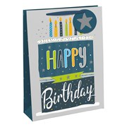 Male Happy Birthday Gift Bag Medium (28923-3C)