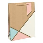 Geo Pastel Kraft Gift Bag Shop (28935-6C)