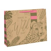 Wild Day Kraft Gift Bag Shopp (28938-6C)