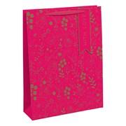 Gold Floral Pink Gift Bag P/fume (28947-9C)