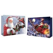 Trad Santa Snowman Gift Bag Jumbo (2981)