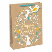 Easter Kraft Gift Bag Medium (30102-3WC)