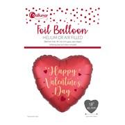 Valentine Foil Heart Balloon (30177-V3C)