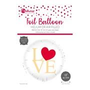 Love Foil Round Balloon (30186-V6C)
