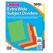 Tiger Extra Wide 5 Part Dividers (301904)
