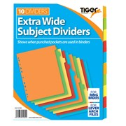 Tiger Extra Wide 10 Part Dividers (301905)