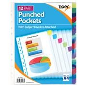 Tiger Punched Pocket 12 Part Dividers (302033)
