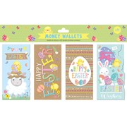 Easter Cute Money Wallets 4pack (30216-MWC)