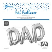 Dad Foil Balloon Silver (30342-DADC)