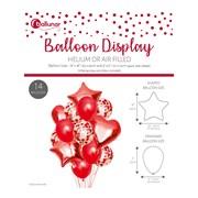 14pce Red Foil Balloon Set (30351-REDC)