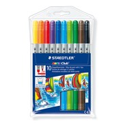 Staedtler Double Ended Fibre Tip   * 10's (320NWP10)