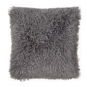Catherine Lansfield Cuddly Cushion Charcoal 45cm